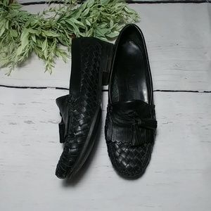Cole Haan woven leather loafers
